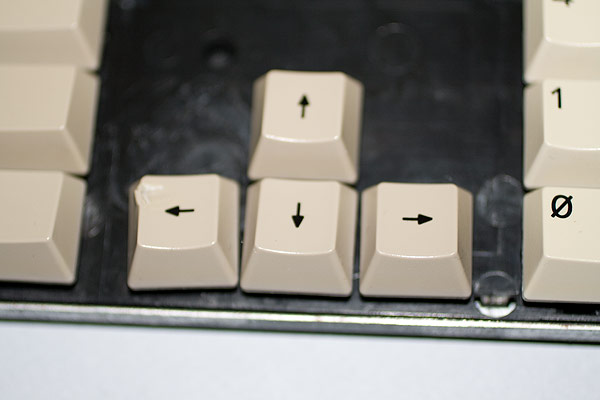 Damage to the A3000 keyboard.