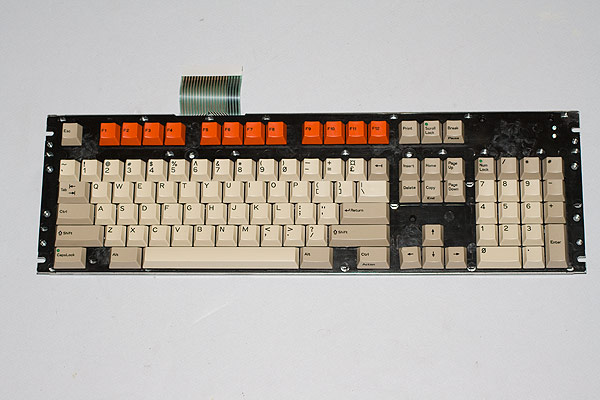 The A3000 keyboard reassembled.