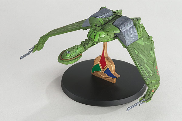 A model of a Klingon Bird of Prey from the Star Trek franchise