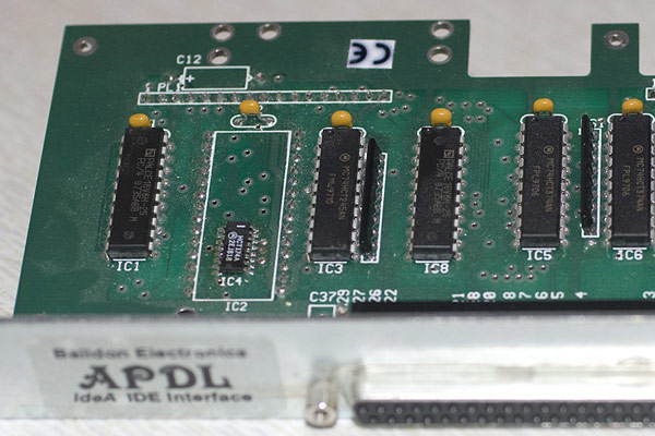 A close up of the APDL IDE podule