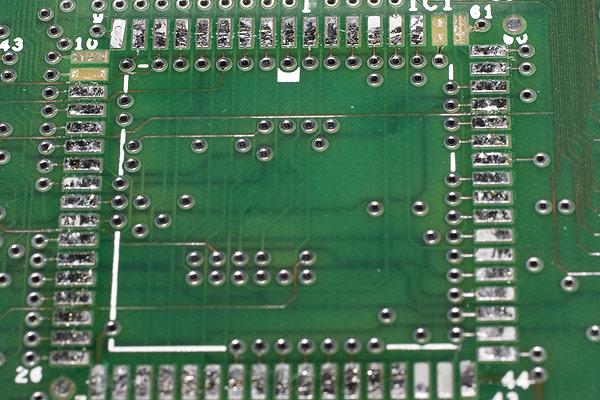 In removing the MEMC chip, there was a small amount of damage to some pads