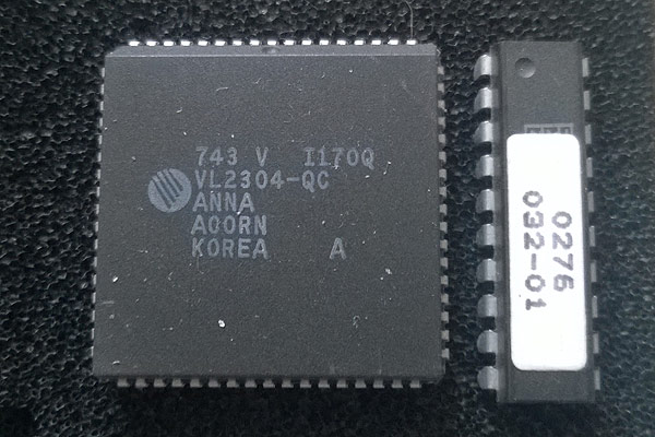 The original ARM MEMC1 chip and its associated PAL