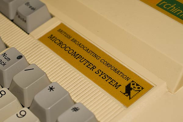 The Archimedes A310 keyboard detailing the BBC Microcomputer System label