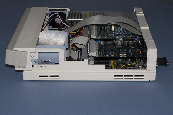 The Acorn Archimedes A440/1 from the side showing the podules fitted