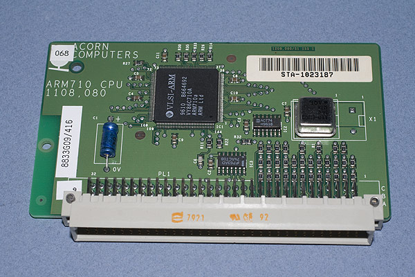 The ARM710 CPU processor card