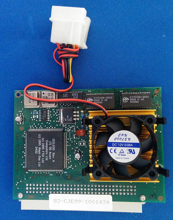 The CJE Micro's 5x86 RiscPC processor card