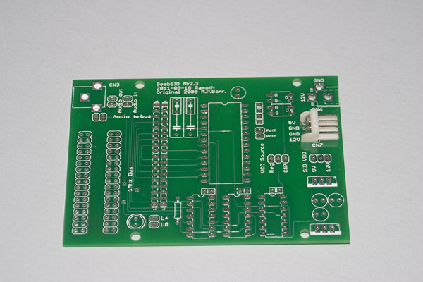 BeebSID Mk 2.3 board as supplied
