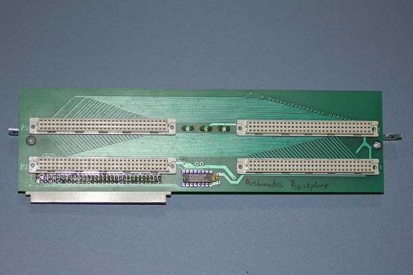 The support bracket fitted to the backplane