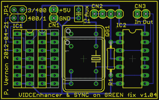 VIDC Enhancer board layout