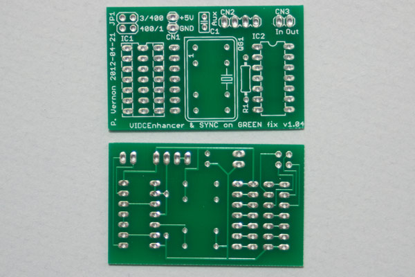 VIDC Enhancer board component and solder side