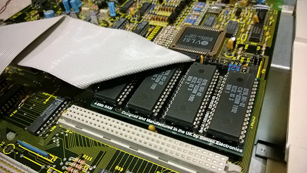 The ROM/RAM carrier board with RISC OS 3 fitted