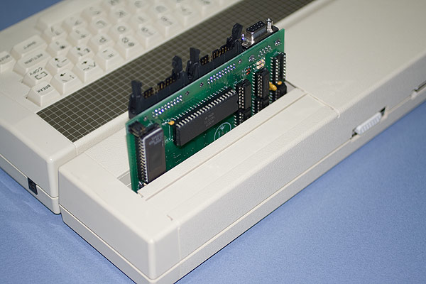 A shot of the Electon User Port expansion board fitted to the Electron Plus 1