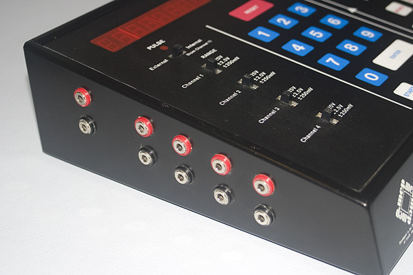 The VELA - Detail shot showing the connectors for the four channel inputs