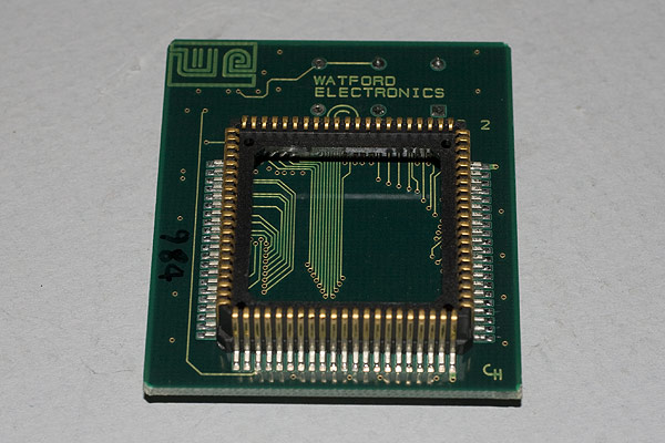 The underside of the WE ARM3 processor daughter board