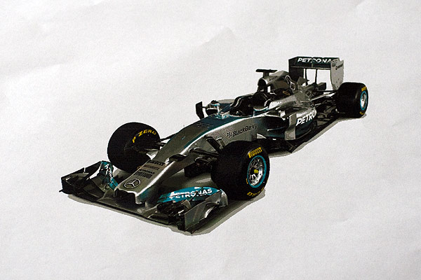 2014 Mercedes Formula 1 Car printed from an Acorn Archimedes in 256 colours