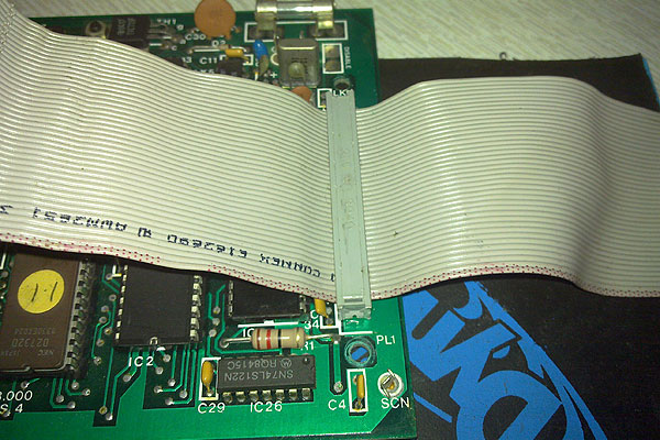 The IDE cable as it was connected to the Second Processor circuit board