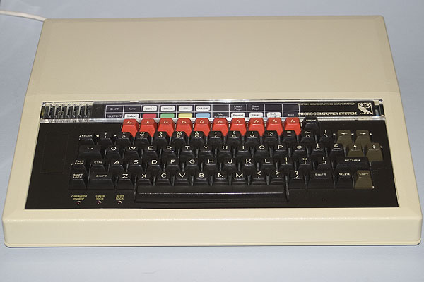 The BBC Micro with a Teletext Function Key strip
