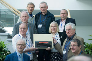 Beeb @ 30 development team and Chris Searle with a BBC Micro