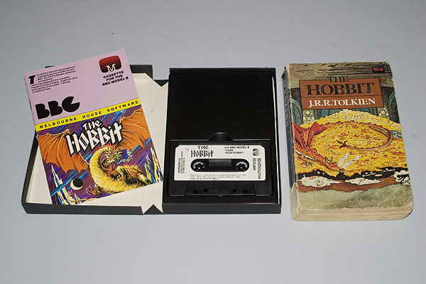 The Hobbit produced by Melbourne House and bundled with the Novel.