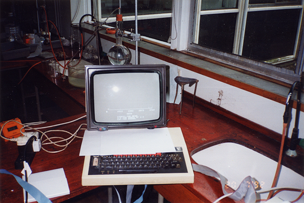 The BBC Micro hooked up to the VELA data logging device
