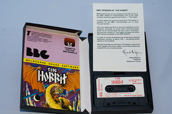 The Hobbit cassette case, instructions and leaflet