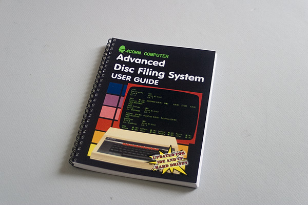 The updated Advanced Disc Filing System User Guide