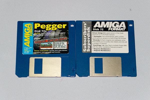 Amiga Format Cover Disk 72a and Subscriber disk