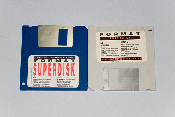Original ST/Amiga format coverdisks for magazine issues 11 and 13