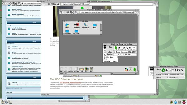 Raspberry Pi running the first official release of RISC OS 5.19